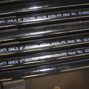 Alloy Steel Seamless Pipe, 6 Inch, ASTM A335 P5, 9-12 m